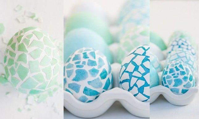 Jak si udělat: Mozaiková velikonoční vajíčka