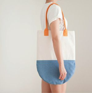 Ocean - Semi-Circle Colorblock Beach Tote