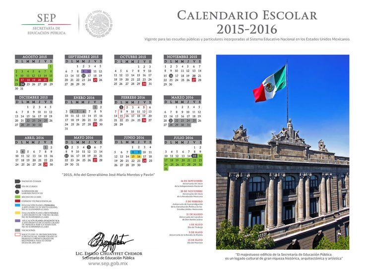 Calendario Escolar 2015 – 2016