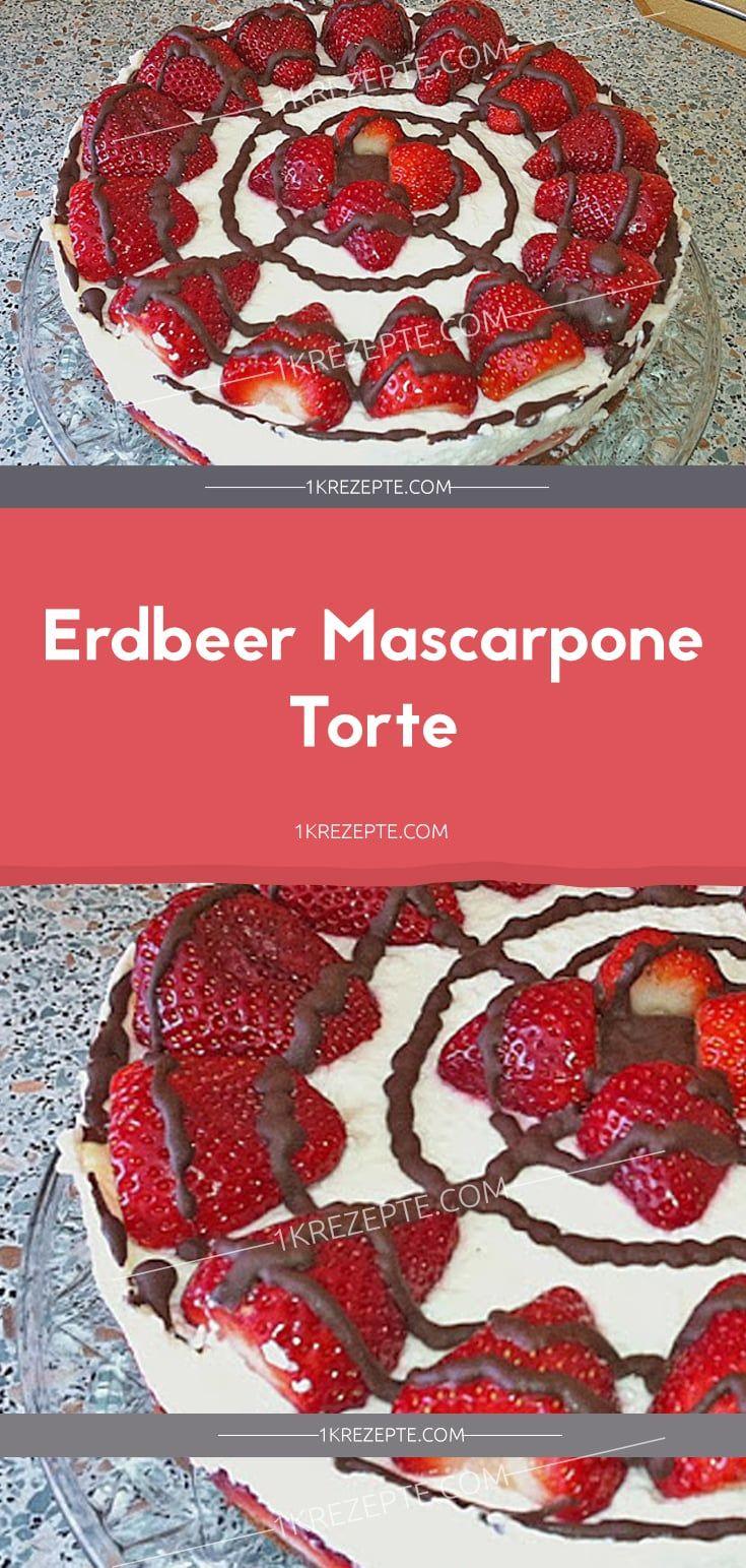 Erdbeer-Mascarpone-Kuchen – Rezepte 1k   – Der Food-Blog mit einfachen Rezepten, die gelingen