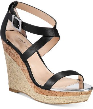 CHARLES By Charles David Aden Espadrille Platfrom Wedge Sandals - $69.30