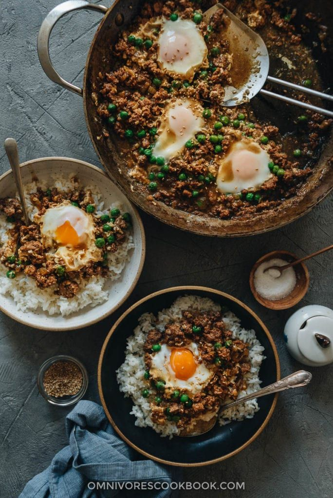 Cantonese Ground Beef Rice And Eggs 窝蛋牛肉 Omnivore S Cookbook In 2020 Ground Beef Rice Beef And Rice Minced Beef Recipes