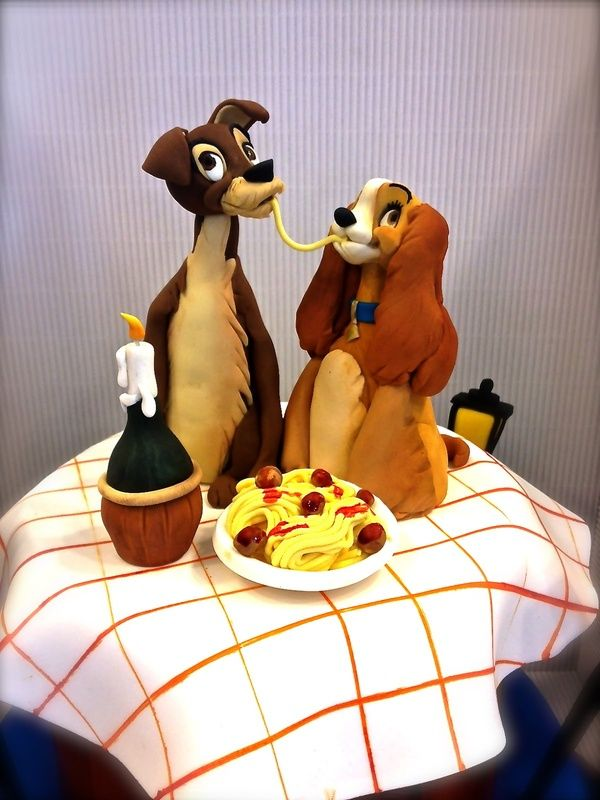 Lady And The Tramp Birthday Cake Topper