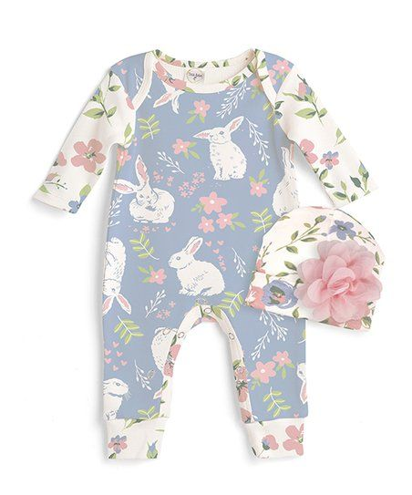 349b7381574 Baby bunnies feel comfortable all day long in the oh-so soft and breathable  cotton design of this playsuit boasting bottom snaps for breezy changing.