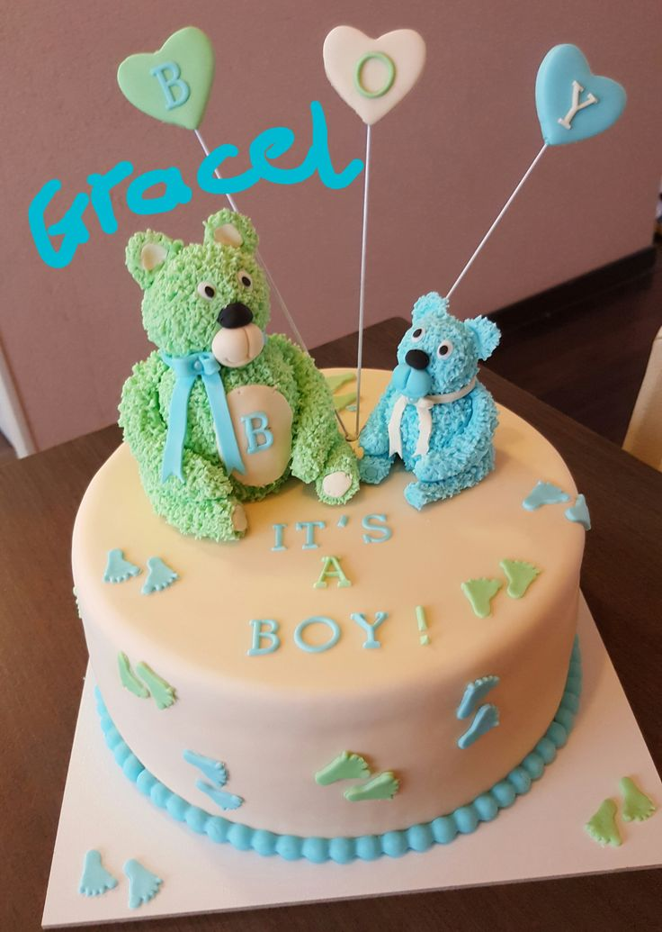 furry bear. babyshower. beertjes. it's a boy