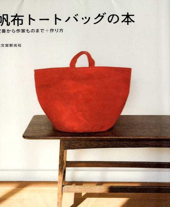 CANVAS FABRIC Tote Bag Book - Japanese Craft Book
