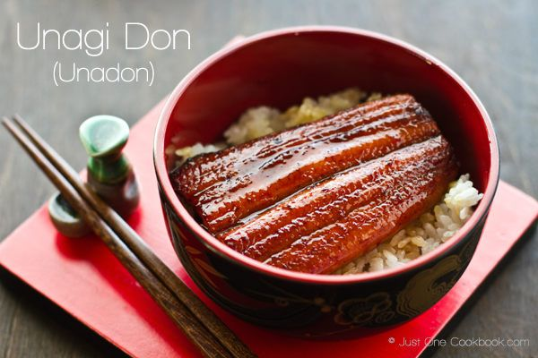 BBQ eel. Enjoy sweet caramelized homemade unagi sauce over just grilled unagi and steaming rice.