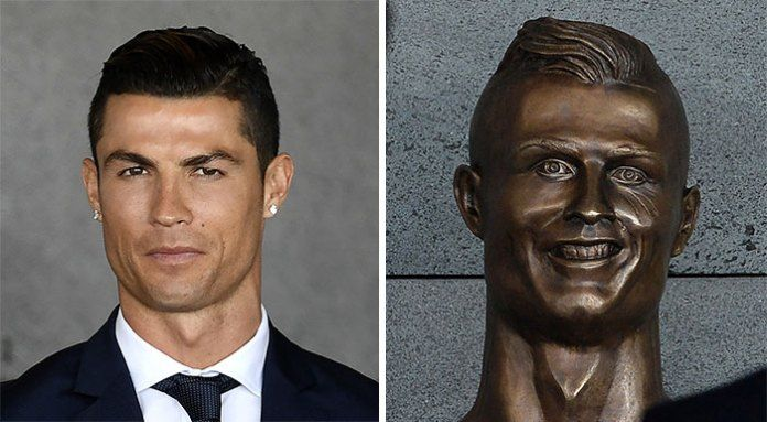 Internet Hilarious Reaction On Creepy Cristiano Ronaldo Statue