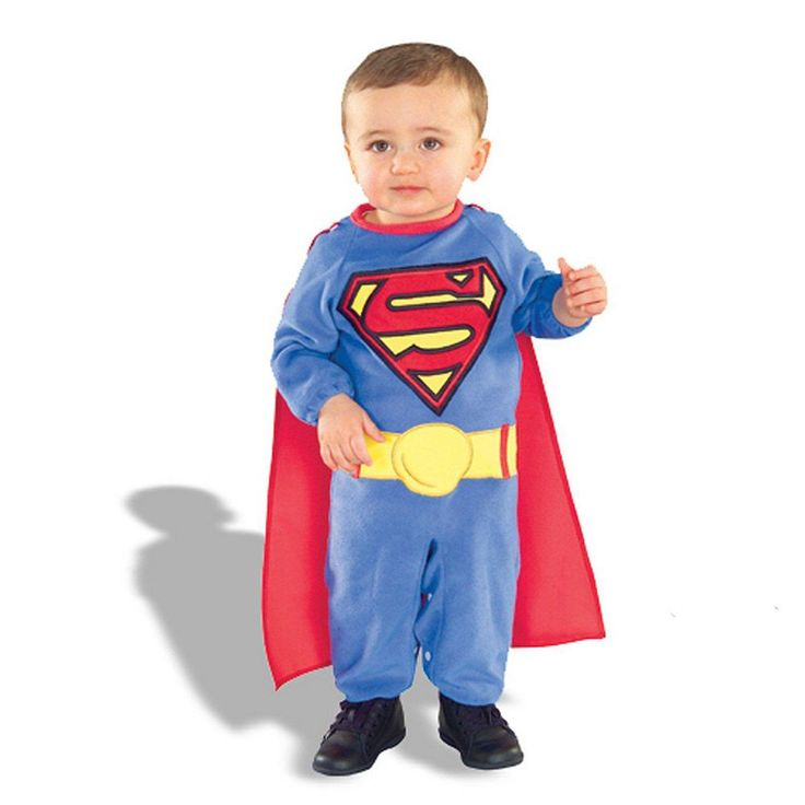 Superman Costume - Baby, Infant Boy's, Size: 6-12MONTHS, Blue