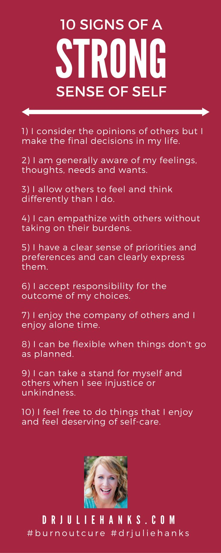 //10 Signs of a Healthy Self | Dr. Julie Hanks, LCSW | Emotional Health