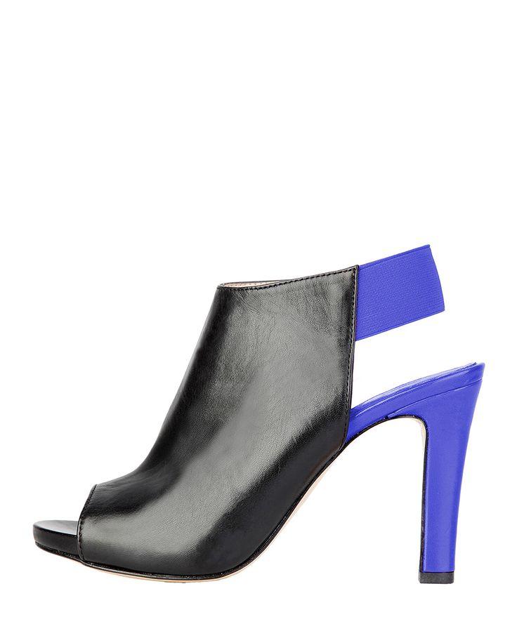 Versace 1969 abbigliamento sportivo srl milano italia  - scarpe donna  - tronchetto bicolore con elastico - tomaia: simi - Sandalo donna audrine Nero