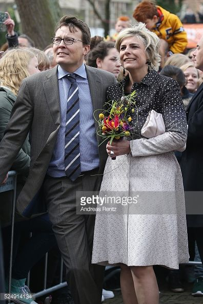 Prince Constantijnand Princess Laurentien attend King's Day the celebration of the birthday of the Dutch King (49 years) in Zwolle 2016.