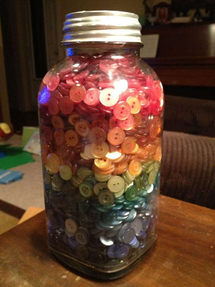 button jar....I've got lots of these in Mason Jars and tins....love buttons....who's got the button....