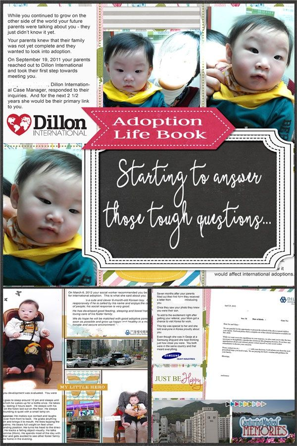 11 best scrapbooking the journey of adoption images on pinterest adoption lifebook tackling some of the tougher questions scrapbooking solutioingenieria Choice Image
