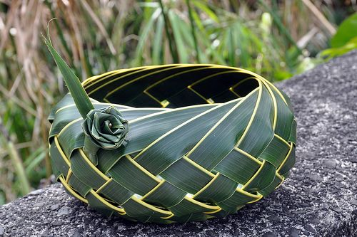 flax/palm baket