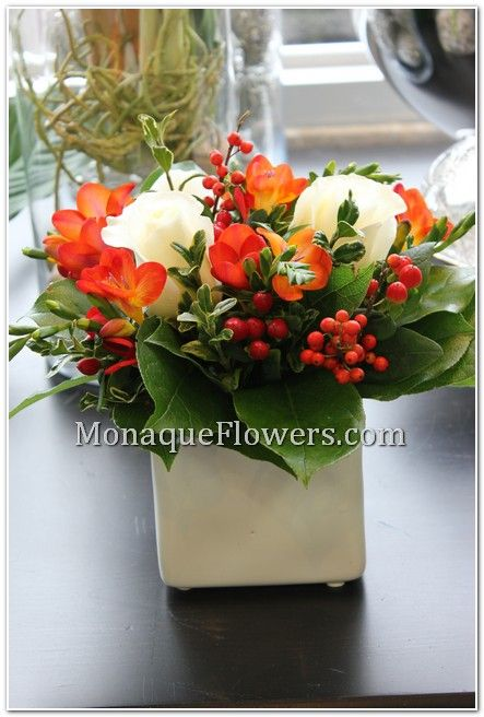 Christmas arrangement,table centerpiece ,holiday decoration