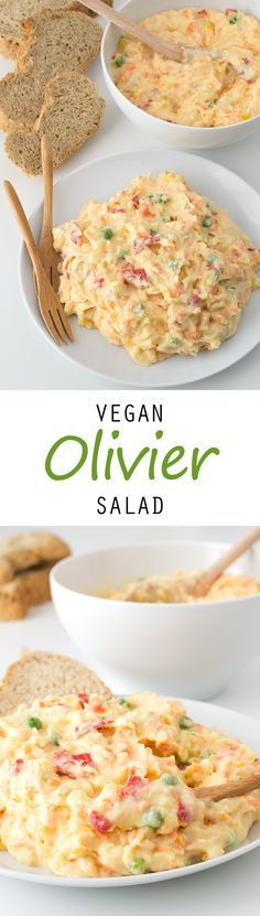 Vegan Olivier Salad #vegan #glutenfree ≈≈★★★≈≈ P.S.: ARE YOU or your friends VEGAN(S)? Look at this vegan CUSTOM NAME SHIRTS and brand them with your (their) name(s). Great discounts available: https://shirtsheaven.com/vegan