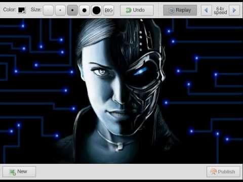 exterminador tx terminator tx robot girl speedpaint draw desenho mulher