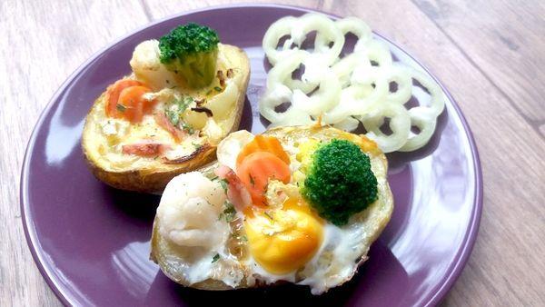 Večeře zbrambory a vajíčka