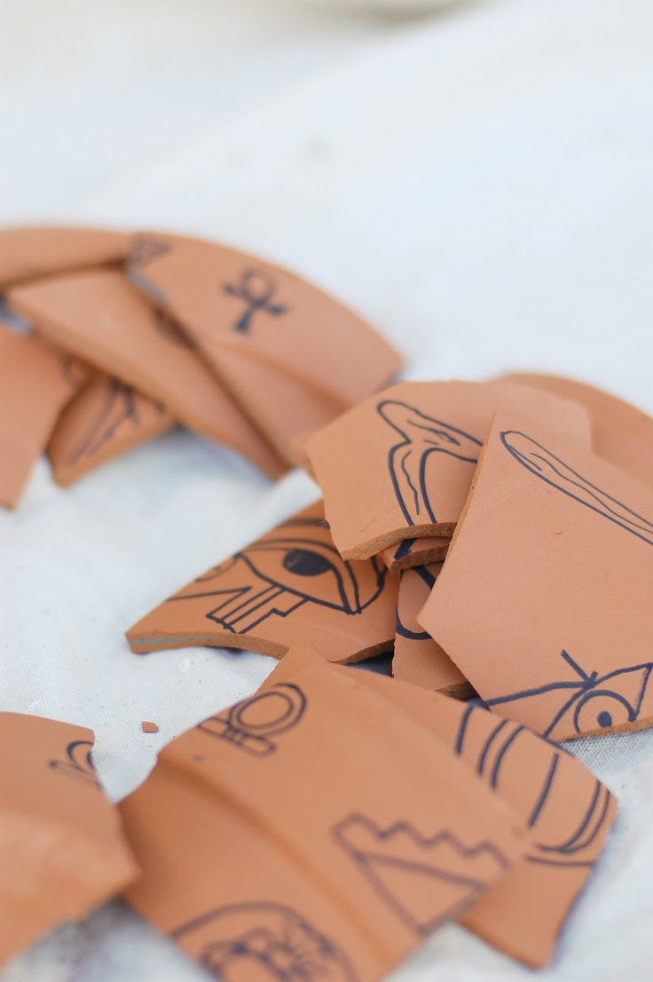 Tradewind Tiaras: DIY Project: Potsherds for an Archaeological Dig