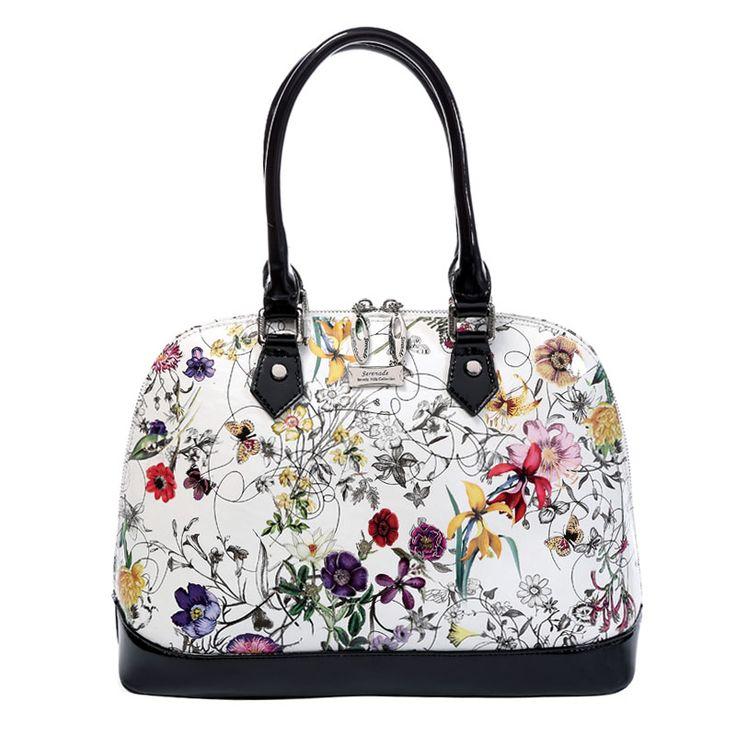 Serenade - Botanics Floral Dome Leather Handbag | Bags To Go