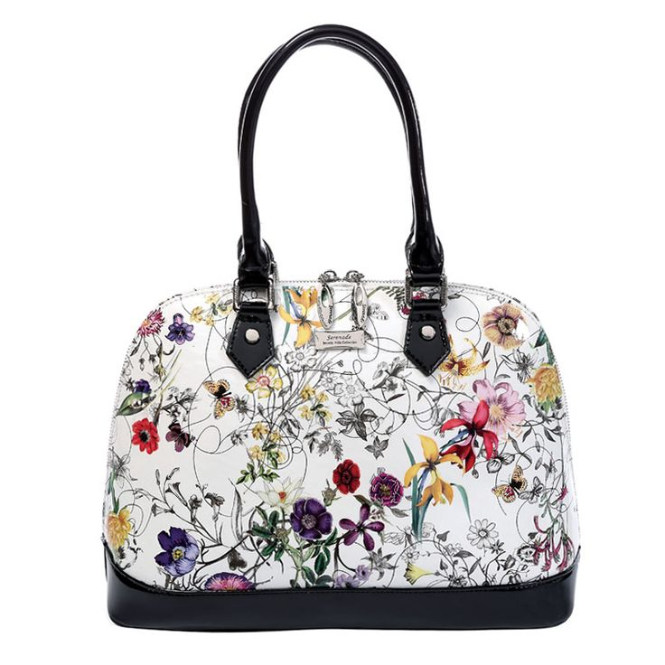 Serenade - Botanics Floral Dome Leather Handbag | Bags To Go
