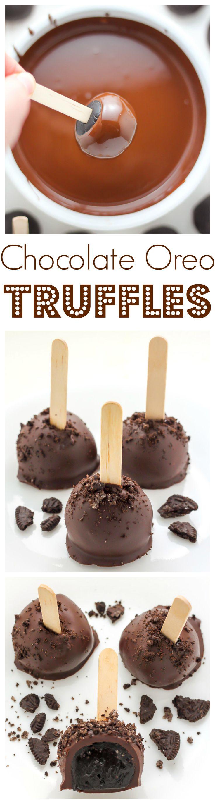 Chocolate Oreo Truffles - so easy and SO decadent!