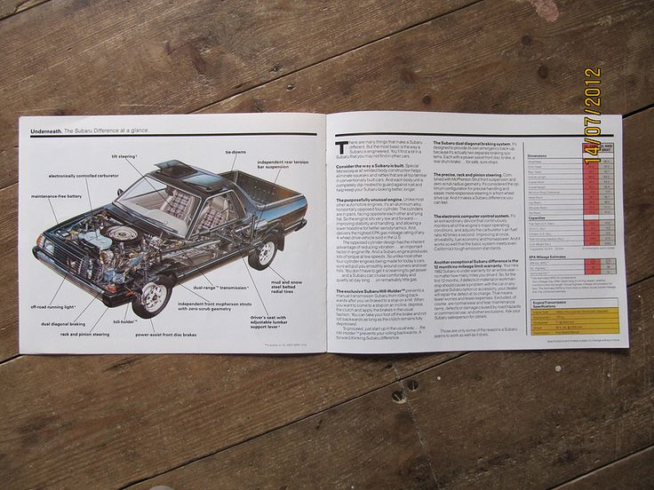American Subaru BRAT brochure from 1982 pages 10 and 11 | by Sholing Uteman