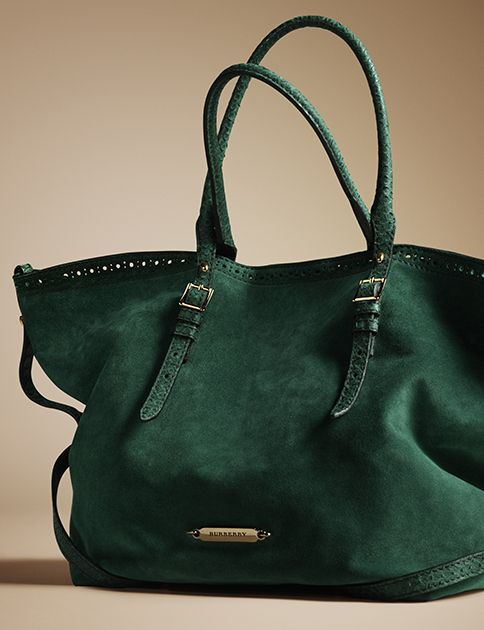 An new season tote with distinctive belt detail from Burberry for A/W13