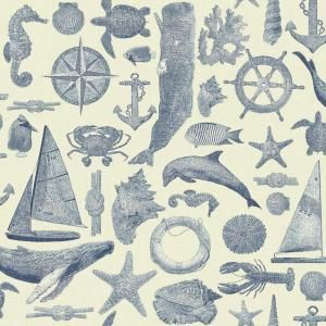 York Wallcoverings Nautical Living Maritime Wallpaper NY4820 at The Home Depot - Mobile