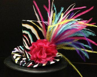 Rainbow Mini Top Hat para vestir cumpleaños Tea Party o