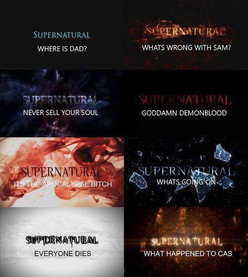8 seasons Supernatural