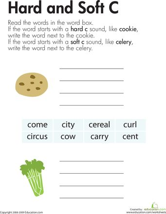 Hard and Soft C | Worksheets, The Words and Vase