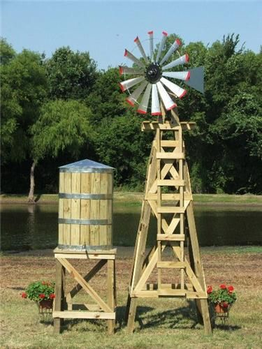 Large Decorative Water Tower Tank With Stand Molinos De