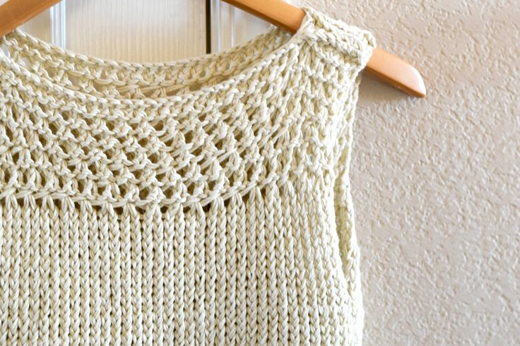 Easy Knit Summer Tops Pattern Mesh #free #diy #fashion #tutorial