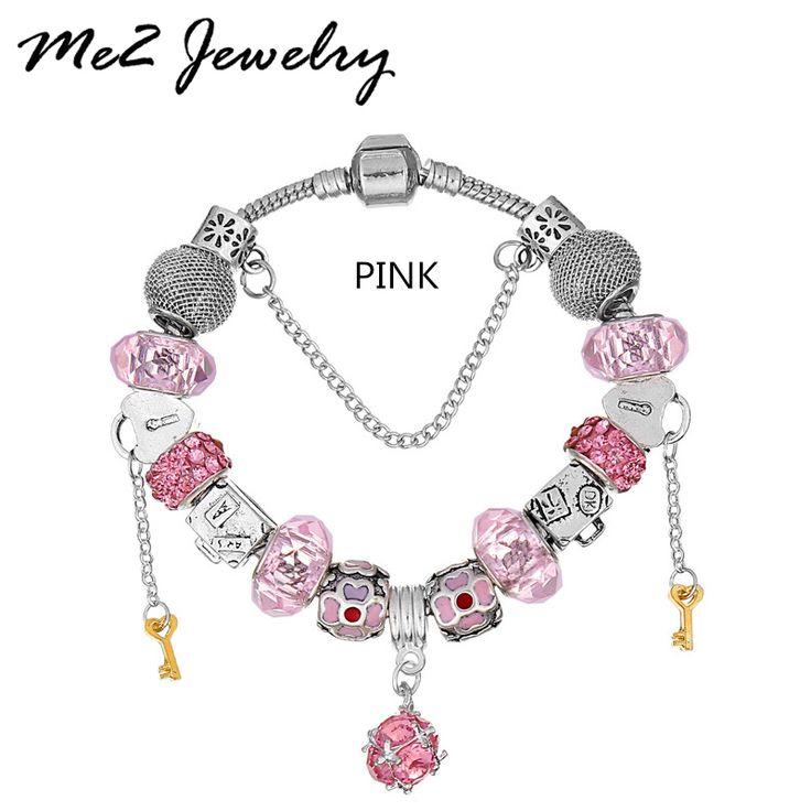 Silver Plated Charm Bracelet Beads Fit Charm Bracelet Pulseras For Women Fashion Pendant Jewelry Free Shipping ** Ini pin AliExpress affiliate.  Klik tombol KUNJUNGI untuk penjelasan rinci