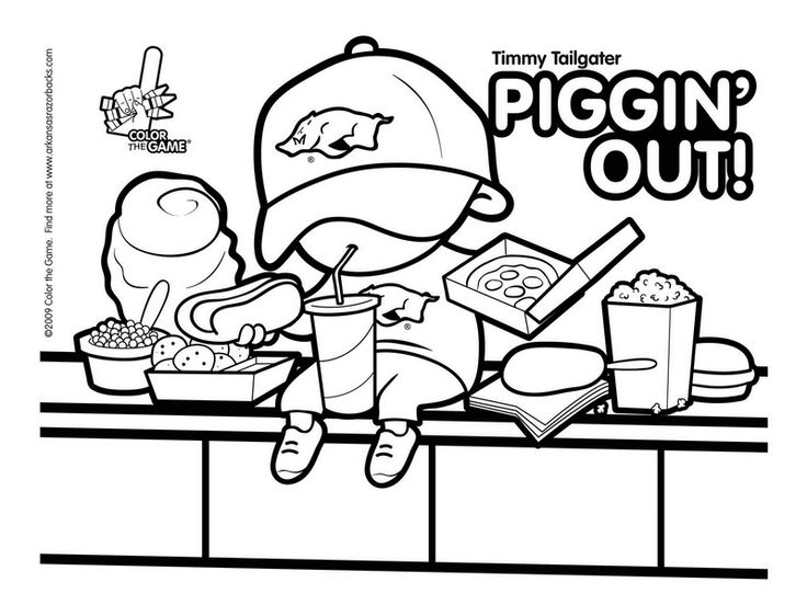 20 best images about arkansas on pinterest football for College football coloring pages