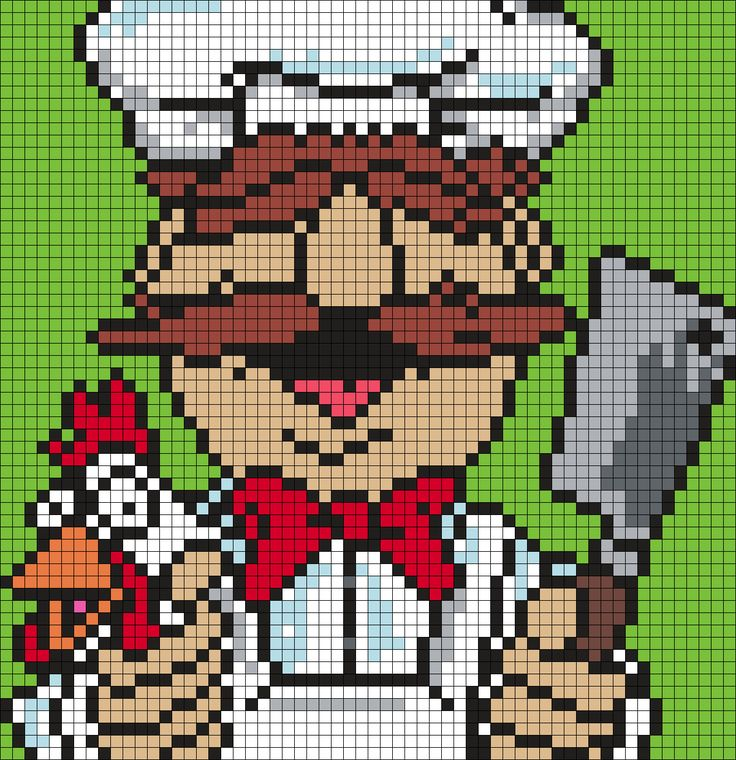 Swedish Chef From The Muppets Perler Bead Pattern / Bead Sprite