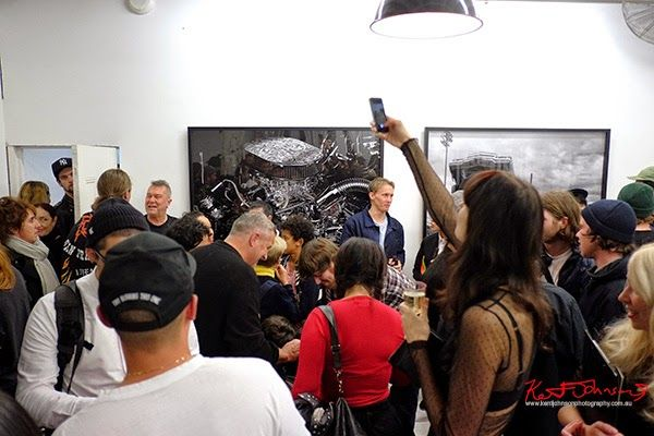 Jimmy Branes at Jesse Lizottes LOWRIDER photography exhibition, China Heights gallery.