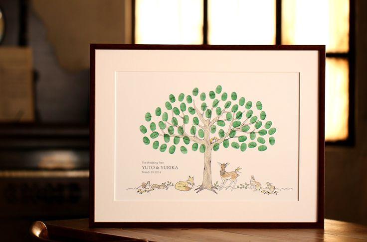 ウェディングツリー[ in the forest ] :森の動物たちの愛らしさを前面に出したデザインです♪