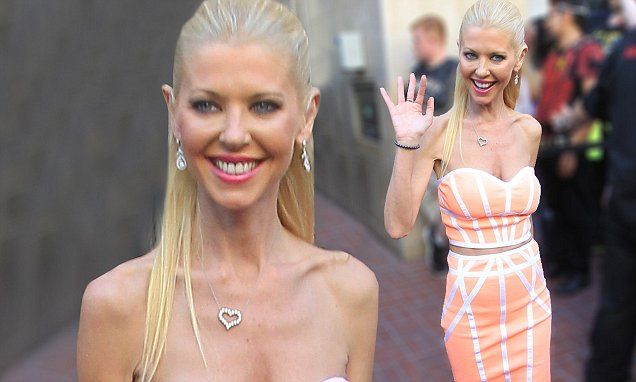 Tara Reid promotes the latest Sharknado with a yacht party