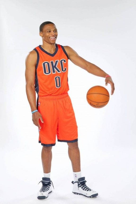 huge discount df764 5cb7b ... OKC Thunder new alternate uniforms unveiled by Russ, Durant, and Ibaka.  Russell Westbrook Serge Ibaka Points Out ...