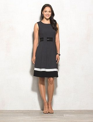 Belted Colorblock Dress