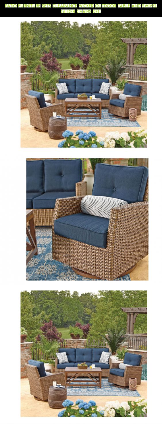 Patio Furniture Sets Clearance Wicker Outdoor Table And Swivel Glider  Chairs Dec #4 #fpv
