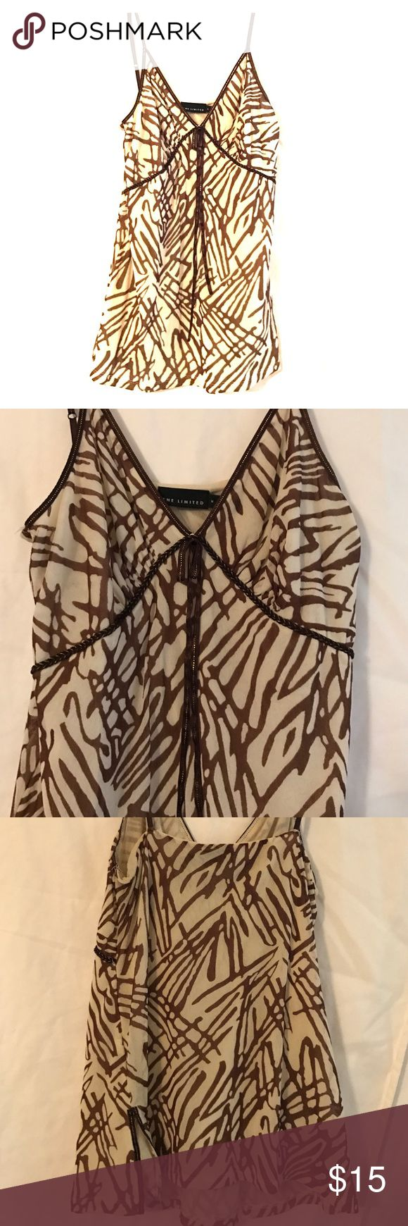 ❤️️FINAL SALE❤️ The Limited Camisole Super cute brown patterned cami The Limited Tops Camisoles