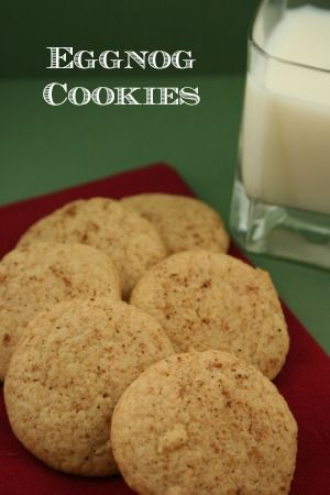 "These eggnog cookies are great with a cup of coffee or tea, or you can go ""old school"" and pour yourself a big glass of milk and start dunking! (easy rum drinks egg nog)"