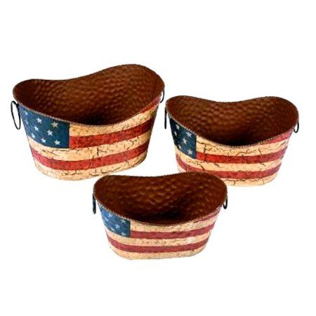 TT UP Americana Decorative Pails - Party Decorations & Room Decor, Fast shipping