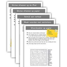 Verschillende werkvormen om de spelling categorien in te oefenen. Download ze gratis via edulink.nl