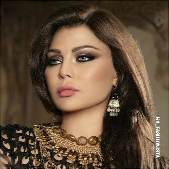 Hairstyle and Arab Makeup