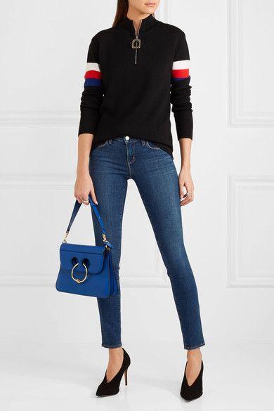 L'Agence - Chantal Low-rise Skinny Jeans - Dark denim - 32